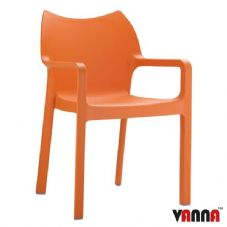 Vanna Peak Arm Chair - Orange